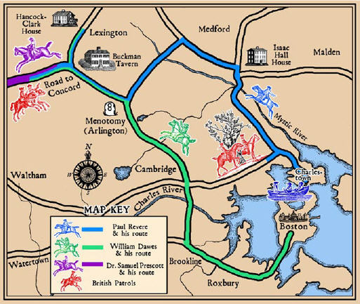 Click on the Map to Visit The Paul Revere House!